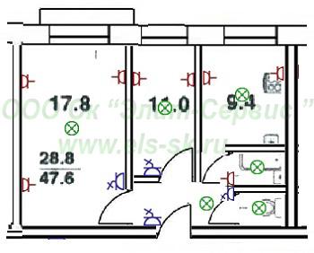 электрическая схема на трехкомнатную квартиру панельного дома Мне наверное особенно